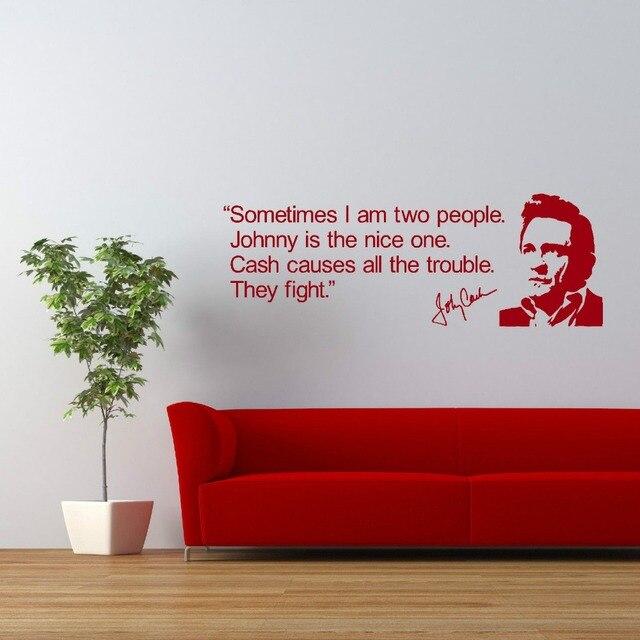 Aliexpress.com : Buy Johnny Cash QUOTE VINYL WALL ART STICKER ROOM ...