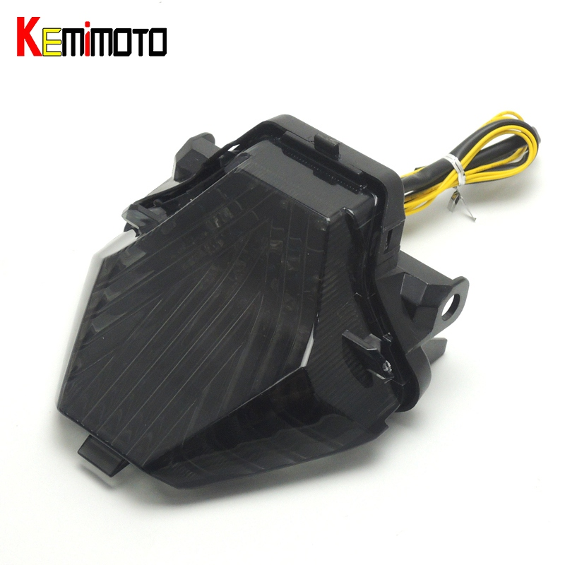 KEMiMOTO For YAMAHA MT-07 MT-25 MT-03 YZF R25 R3 Integrated LED Tail Light Turn signal Blinker MT07 FZ07 2014 2015 2016 2017 for yamaha fz 09 mt 09 fj 09 mt09 tracer 2014 2016 motorcycle integrated led tail light brake turn signal blinker lamp smoke