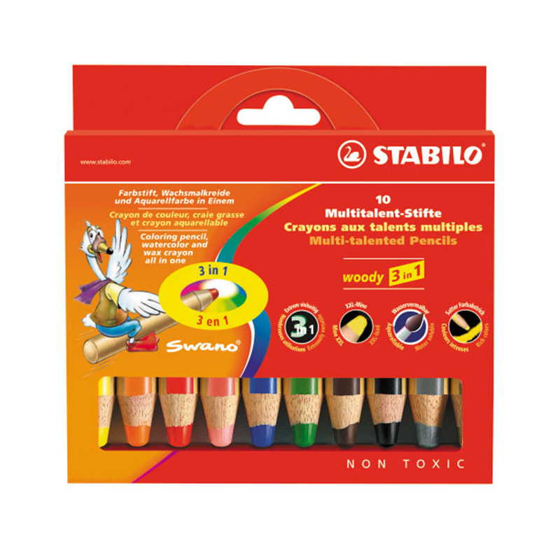 stabilo Pen Set 10/18 Safe Non-toxic Children Art Marker Drawing Color pencils School Supplies wood pencil rainbow Favourite