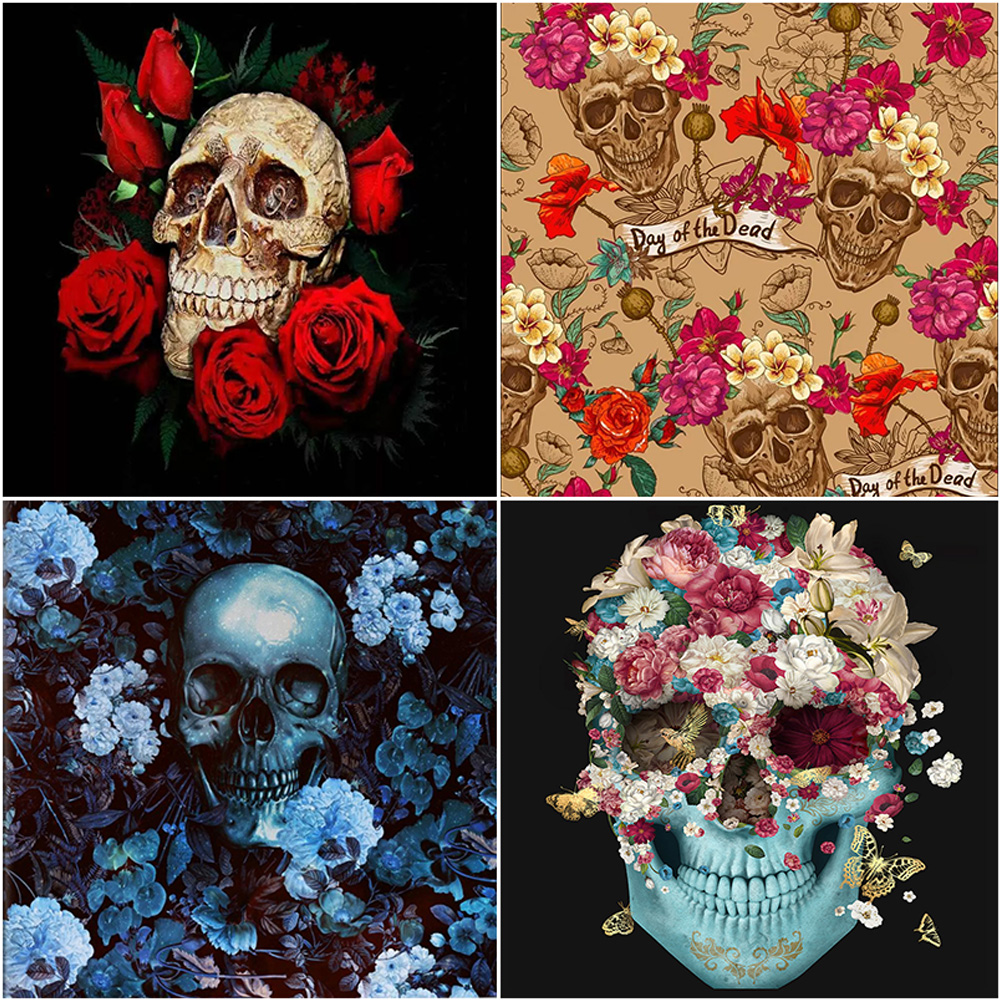 Oly 5D Diamond Painting Fantasy Skull Full Round Diamond Mosaic Estheticism Rhinestone Picture Embroidery Sale Home Decor in Diamond Painting Cross Stitch from Home Garden