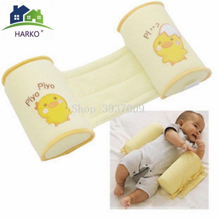 HARKO Baby Crib Infant Baby Toddler Safe 100% Cotton Anti Roll Pillow Sleep Flat Head Positioner