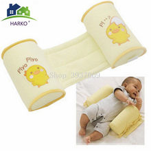 HARKO Baby Crib Infant Baby Toddler Safe 100% Cotton Anti Roll Pillow Sleep Flat Head Positioner(China)