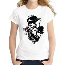 2018 Summer T shirt Dark Princess Snow White Women Punk Shirt Good Quality Comfortable Breathable T-Shirts