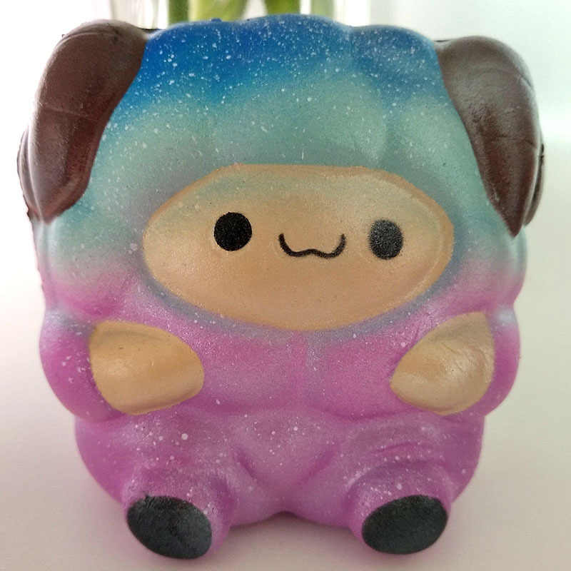 Мягкие красочные большие Овцы медленно поднимающиеся PU jumbo Squishies антистресс развлекательный гаджет Squishe Новинка кляп игрушки для детей