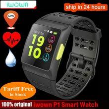 Купить Iwownfit iwown P1 Смарт-часы сердечного ритма ЭКГ обнаружения анализа вср встроенный gps ips цветной экран нескольких видов спорта режимы браслет