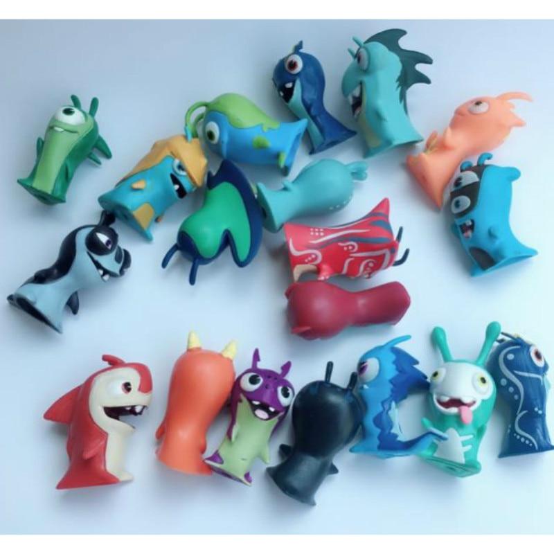 50pcs/lot Cartoon Anime Toys 5cm Slugterra PVC Model Toys Dolls Child Toy Collection Home Decoration