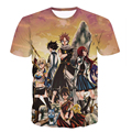 Clássico Anime Fairy Tail Natsu Dragneel T-shirts/Fairy Tail Lucy Heartphilia/Erza Scarlet Personagens 3D t camisa Dos Homens t Ocasional t camisas