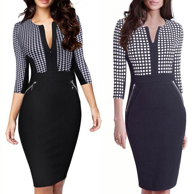 Women's Plus Size Pencil Midi Dress