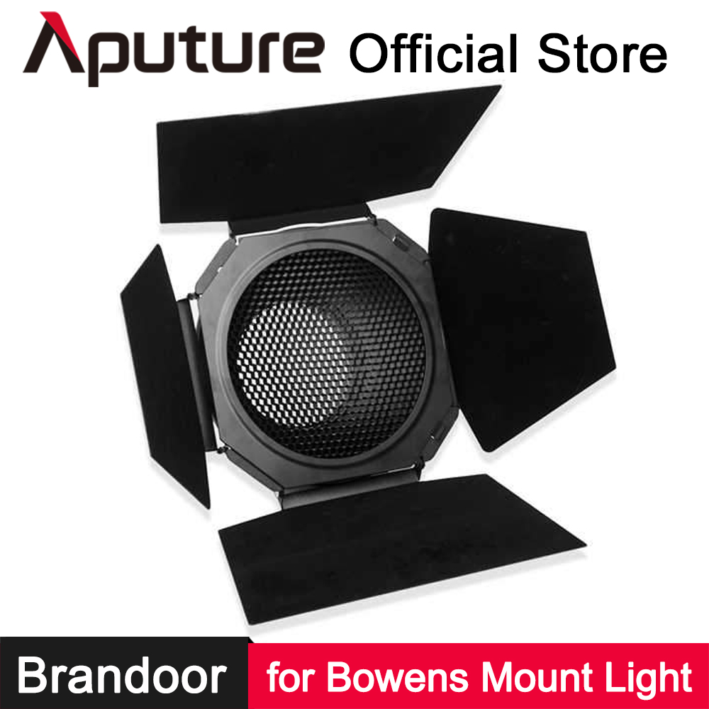 Aputure Bowens Mount 7-inch Barn Door for LS C120 C300 Series Bowen-S Mount Light Shaping Tool Photography Lighting Accessories