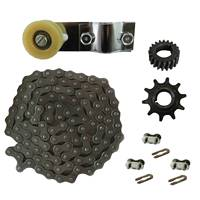 415 Chain&Chain Tensioner&Drive Sprocket Fits 49/66/80cc 2 Stroke Motorized Bicycle