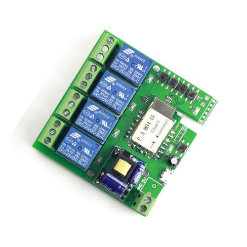 1 PCS AC 220 V Wi-fi Sem Fio Interruptor do Relé de Atraso Módulo 4-way controle para Hom Inteligente