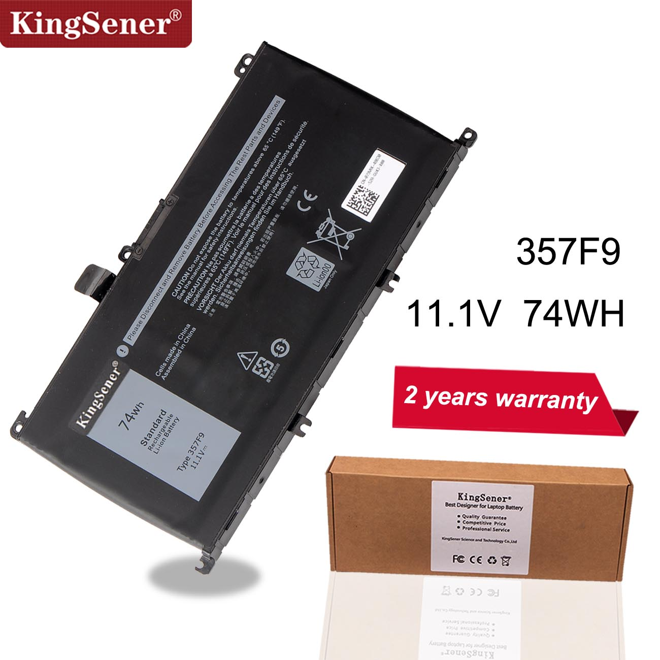Kingsener 11.1V 74WH 357F9 Battery For Dell Inspiron 15 7000 7559 7557 7566 7567 5576 INS15PD 1548B INS15PD 1748B INS15PD 1848B