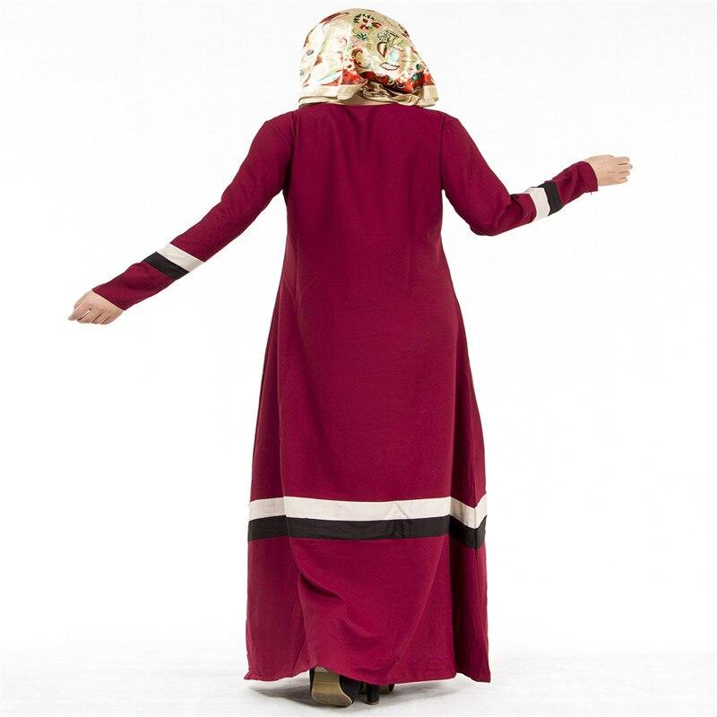Bubble Tea Women Muslim Long Dress Islamic Abaya Kaftan Dubai Tyrkisk - Nasjonale klær - Bilde 4