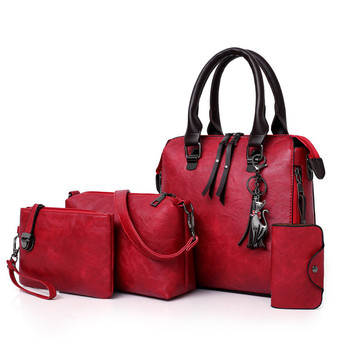 BERAGHINI Female High Quality PU Leather Shoulder Messenger Bags Luxury Ladies Handbags Tote Bag Women Composite Bags 4pcs/Set Сумка