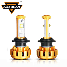 Auxbeam Cree Chips Luxury Gold Aluminum 60W pair H7 Led Car Refitment Bulbs SUV H7 Headlight