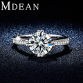 MDEAN Mujeres Anillos de Bodas de Oro Blanco plateó La Joyería de circón accesorios de moda anillos de Compromiso para las mujeres Bague bijoux MSR308