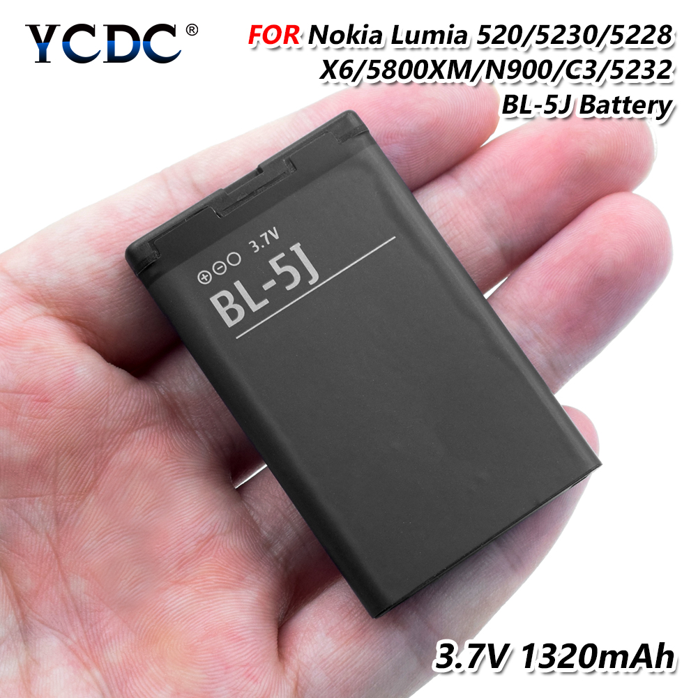 2019 New 100% Original Replacement BATTERY BL-5J FOR NOKIA 5236 5238 5802 N900 X6 LUMIA 520 521 525 530