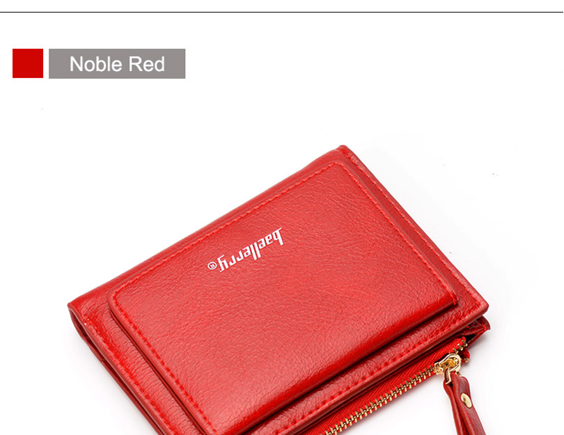 Women Wallet Small Purse Female Wallet Credit card slots zipper coin pocket Leather Wallet lovely pink one size 3