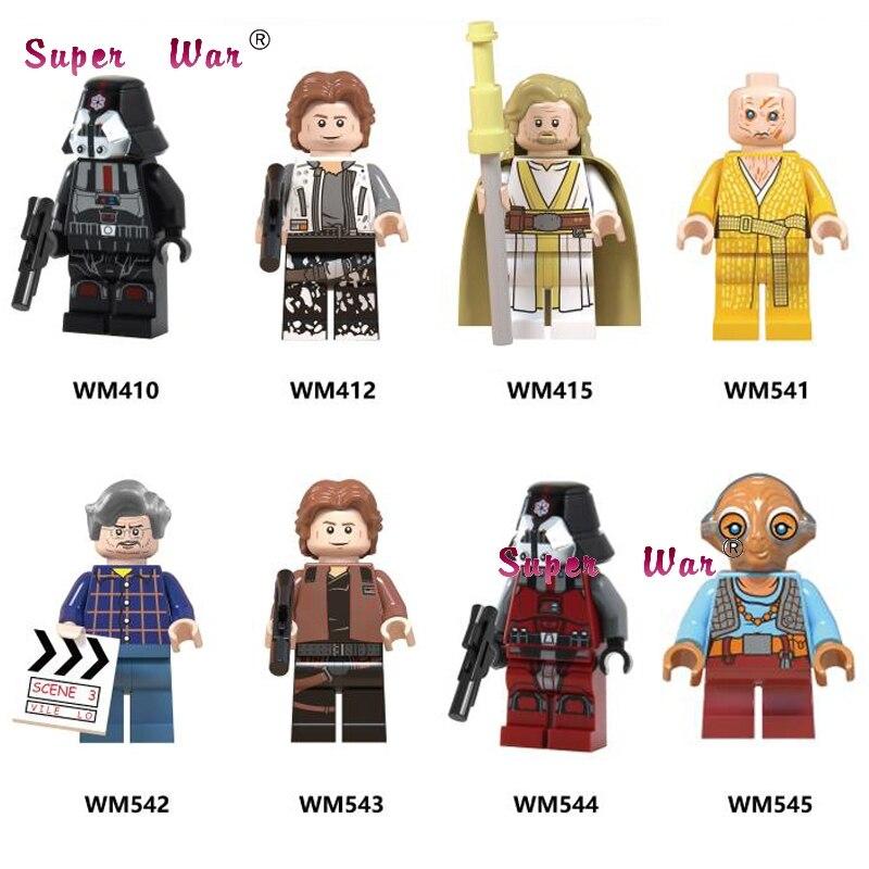 Single  George Lucas Han Solo Sith Luke Skywalker Maz Kannata Snoke  Building Block Toys For Children
