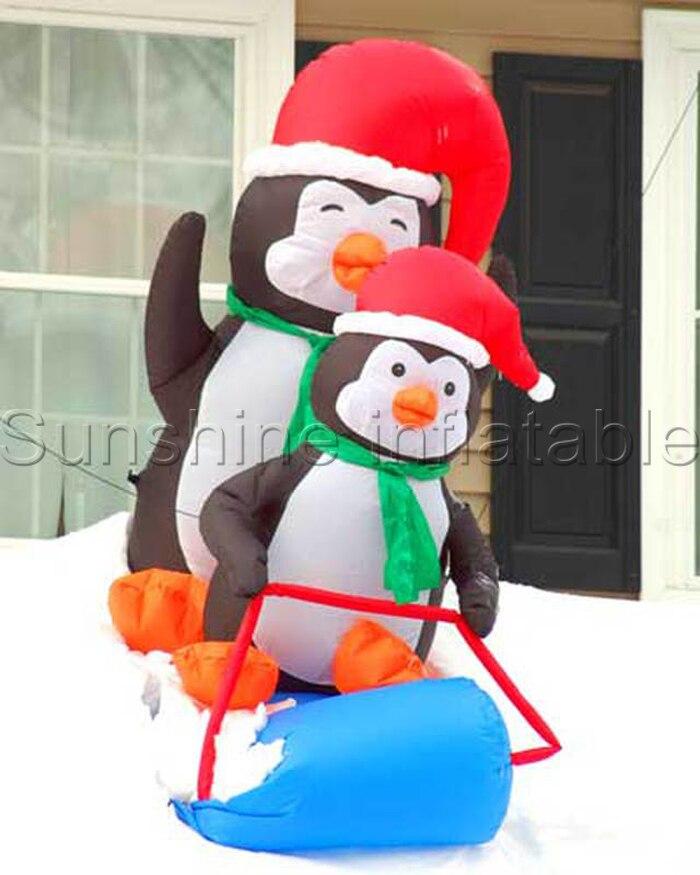 Slitta calda penguins decorazioni di natale gonfiabile pinguino gonfiabile della decorazione di natale pinguino per la decorazione da giardinoSlitta calda penguins decorazioni di natale gonfiabile pinguino gonfiabile della decorazione di natale pinguino per la decorazione da giardino