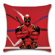Comic Superhero painted Cushion Cover Decoration for Home sofa chair seat kids children bedroom gift friend present pillow case deadpool movies comic printed cushion cover party decoration for home house sofa chair seat pillow case kids gift friend present