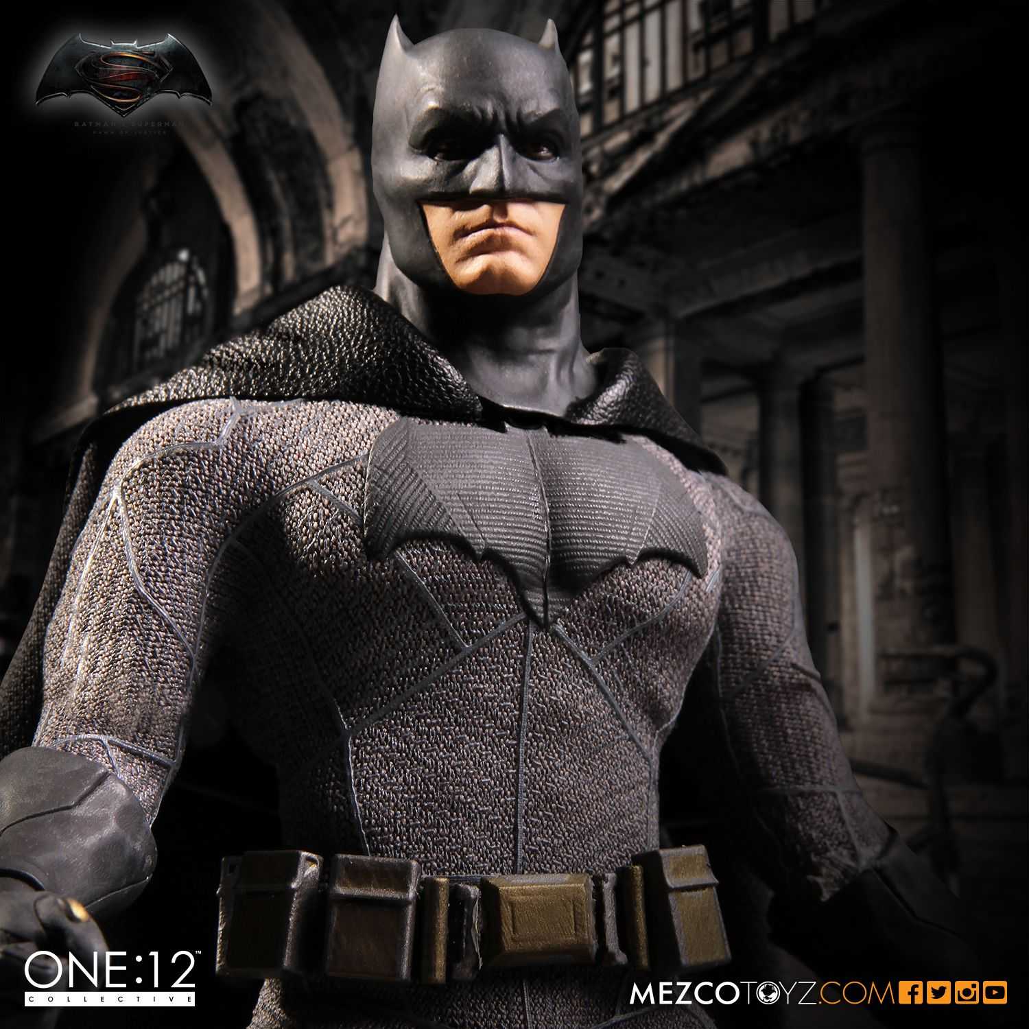 MEZCO Dawn of Justice Batman One 12 Collective High Quality BJD Action Figure Toys