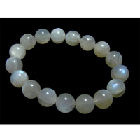 Free shipping Wholesale Genuine Natural Blue Moonstone Stretch Bracelet Round beads 11mm Flash Light Moonstone Bracelets 02082