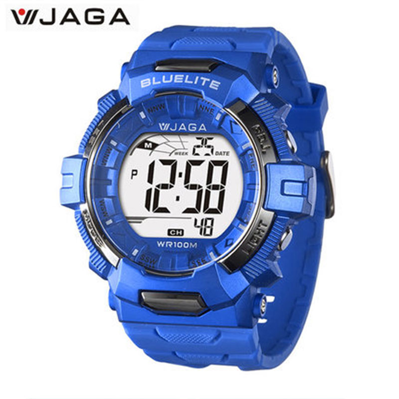 JAGA 2017 Sports Watches Movement Multifunction Electronic Watch 100 Meters Waterproof Watches Diver Sports Watch M979B