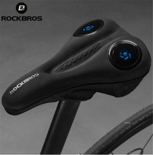 ROCKBROS Bicycle Saddle Cover MTB Liquid Silicone Gels Hollow Breathable Comfortable Soft Cycling Seat Accessories