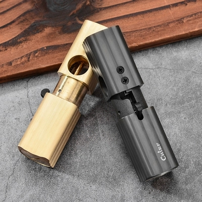 CHIEF Automatic bounce Oil lighter brass&Aluminum alloy retro collection pipe lighter 85*23*23mm  99/245g Gift-in Cigarette Accessories from Home & Garden    1