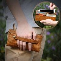 FLOVEME Phổ 5.5 ''Leather Trường Hợp Pouch Cho iPhone 5 5 S SE 6 6 s Cộng Với 7 7 Cộng Với Đối Với Samsung S5 S6 S7 Cạnh Khe Cắm Thẻ Điện Thoại Túi
