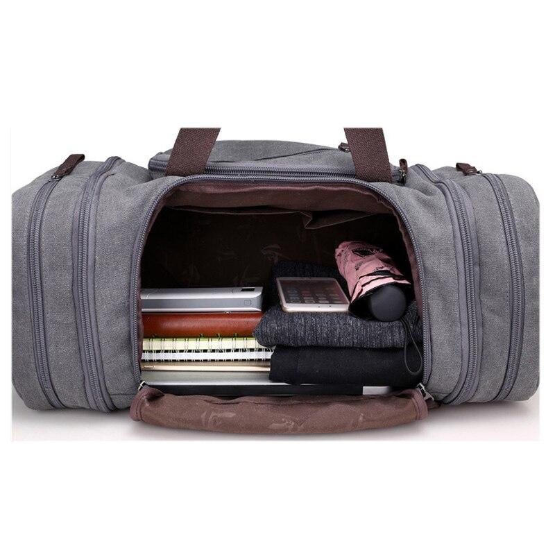 Bolsa de deporte de viaje para hombre de gran capacidad para llevar equipaje de mano, bolsas de lona de viaje, bolsas de viaje, bolsas de gimnasio de fin de semana grandes para hombres - 6