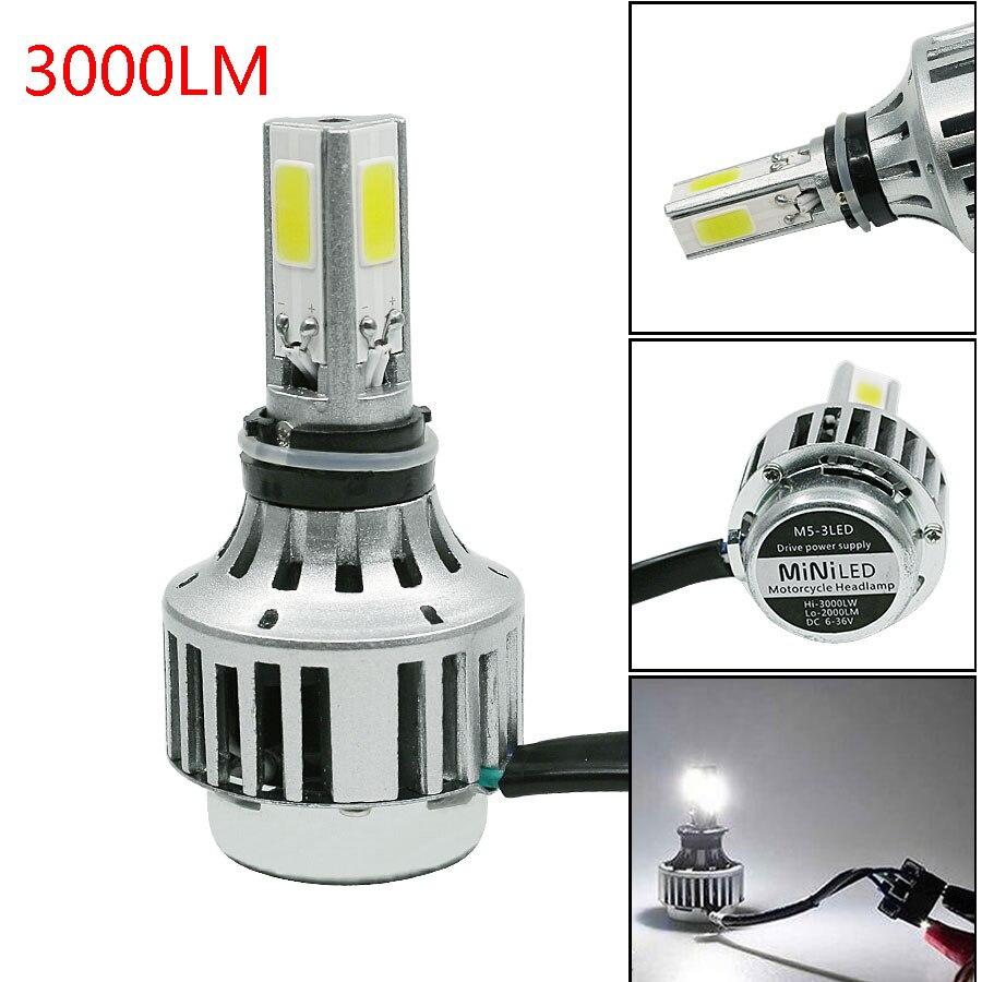 Prix pour 1 PCS H4 9003 HB2 LED Voiture Moto Phare Ampoule Haut Bas faisceau 32 W 3000LM 6000 K DC12V 24 V Brouillard Lampe Lumineux Livraison Gratuite