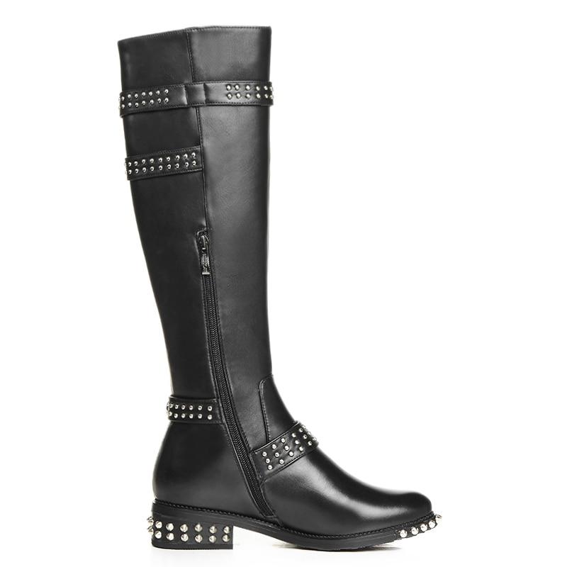 Du Pour Hauteur Perles Bottes En Véritable Rivets Cuir Punk Marque Genou 2019 Chaussures Noir Style Sarairis À D'équitation Femmes Femme D'hiver xSZ0wtzYq