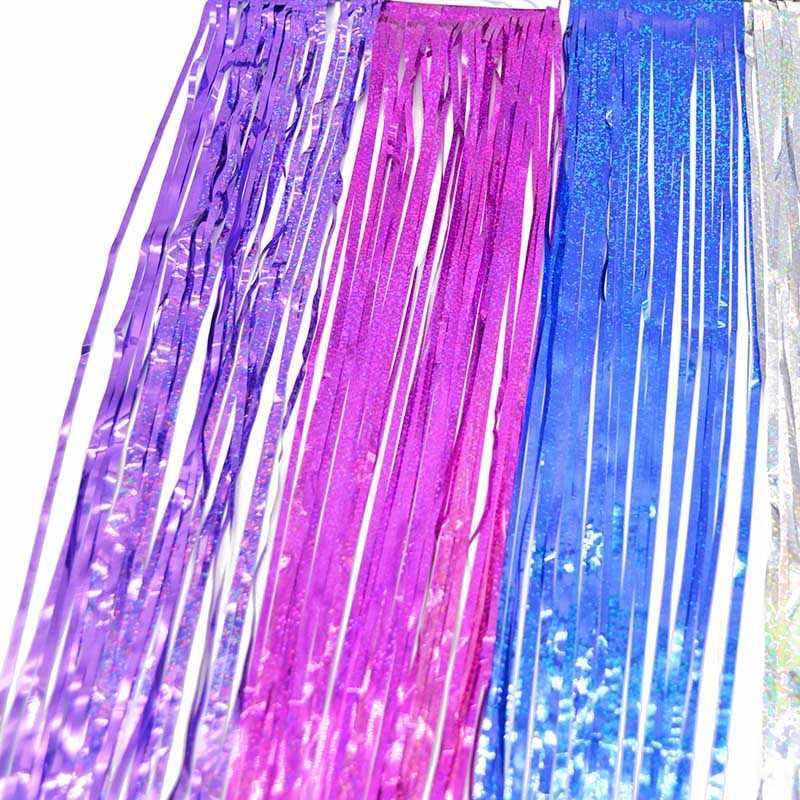 Franja de oropel de 10*100cm, cortina con purpurina, puerta, lluvia, hogar, habitación, decoración del banquete de boda, telón de fondo para el escenario, fondo, accesorios de fotografía