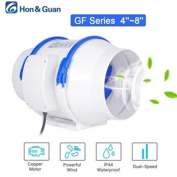 Hon & Guan 4 5 6 8 inch Thuis Stille Inline Duct Fan Sterke Ventilatie 110V 220V Extractor fan Keuken Lucht Schoon Fans Badkamer Ventilator