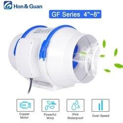 Hon & Guan 4 5 6 8 zoll Hause Stille Inline-rohrventilator Starke Belüftung 110V 220V Extractor fan Küche Luft Sauber Fans Bad Fan