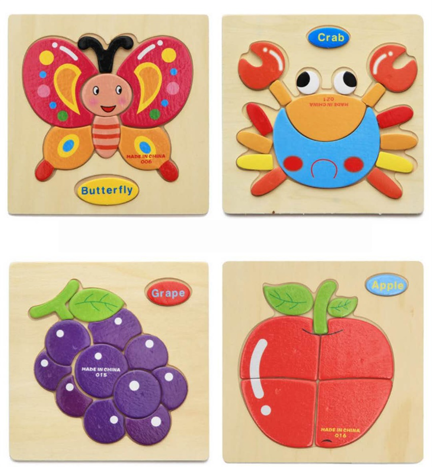 Cartoon Wooden Stereoscopic Puzzle Torvi Cube T Animal Fruit Transportation 3 Styles Children 39 s Intelligence Toy Gift in Puzzles from Toys amp Hobbies