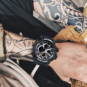 Image 5 - メンズ腕時計 2018 SMAEL トップブランドの高級時計男性グラムスタイル軍事軍 S ショックスポーツ腕時計 LED アナログデジタル時計 Saat