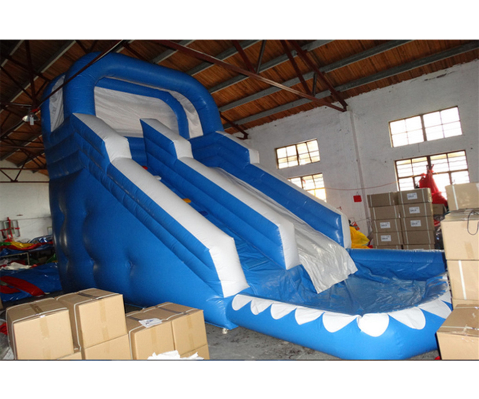 Inflatable Water Slide China: Big Inflatable Water Slide China With Pool For Children
