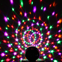 Led Stage Lamp Sound Control 6 Colors Magic Crystal Ball Disco Light Party Lights 110 220V