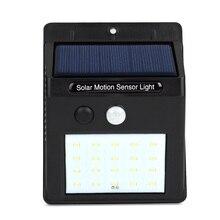 Солнечный Мощность движения PIR Сенсор настенный светильник 20 напольный Водонепроницаемый энергосберегающие уличные Двор Путь домашний сад безопасности Лампа