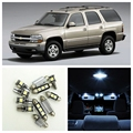 12 pcs Branco Lâmpadas LED Interior Package Kit Para Chevrolet Chevy Tahoe 2000-2006 Mapa Dome Matrícula lâmpada Chevy-B-12