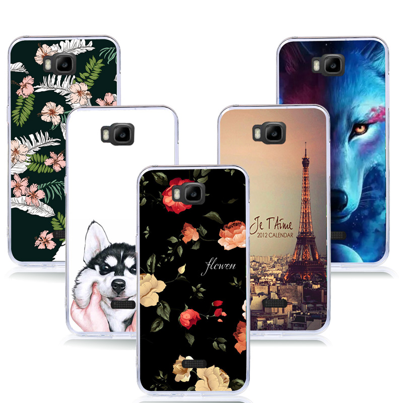 Soft TPU Case For Huawei Honor Bee Y541 Y5C Y541-U02 Painted Silicon Back Cover Phone Cases for Huawei Y541 U02 Fundas Coque ...