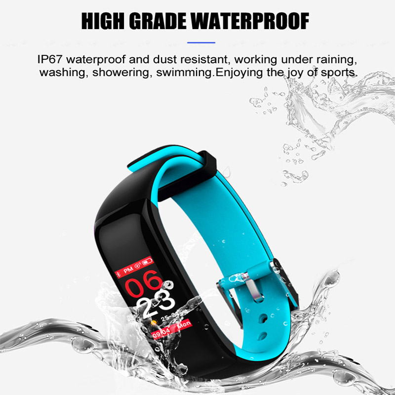 JingTider Color Display P1 Plus Smart Band Blood Pressure Heart Rate Monitor Smart Bracelet Waterproof IP67 For IOS Android