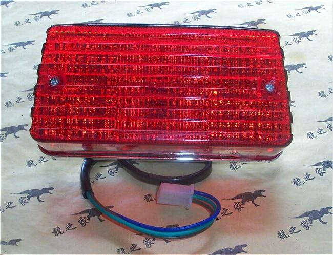 Livraison gratuite GS125 ZJ QJ125A feux arrière assemblage feux arrière Comp feux de frein Assy