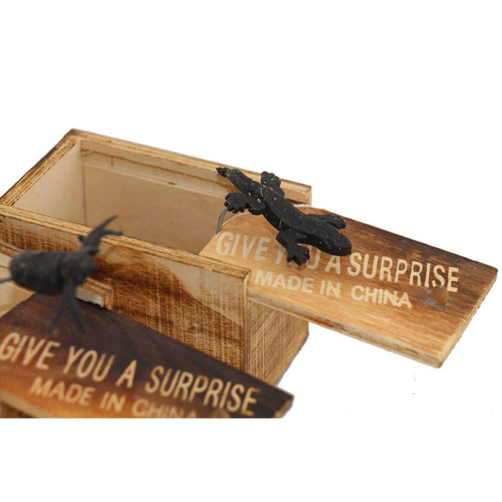 Страшная деревянная коробка, игрушка искусная игрушка для всего человека, деревянная игрушка с животным, Забавный трюк, шокирующий подарок для мальчика, шутка, шутка, кляп