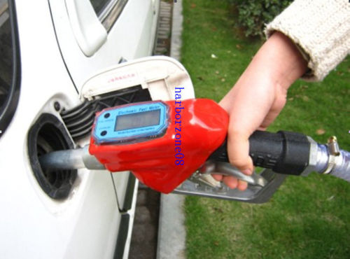 New Fuel Gasoline Diesel Petrol Oil Delivery Gun Nozzle Dispenser With Flow Meter fuel gasoline diesel petrol oil delivery gun nozzle turbine digital fuel flow meter lpm liter