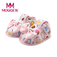 MUQGEW Children shoes for kids Baby boys 2018 filler babies Yellow summer shoes for baby girl cute Print Butterfly-knot #@&A(China)