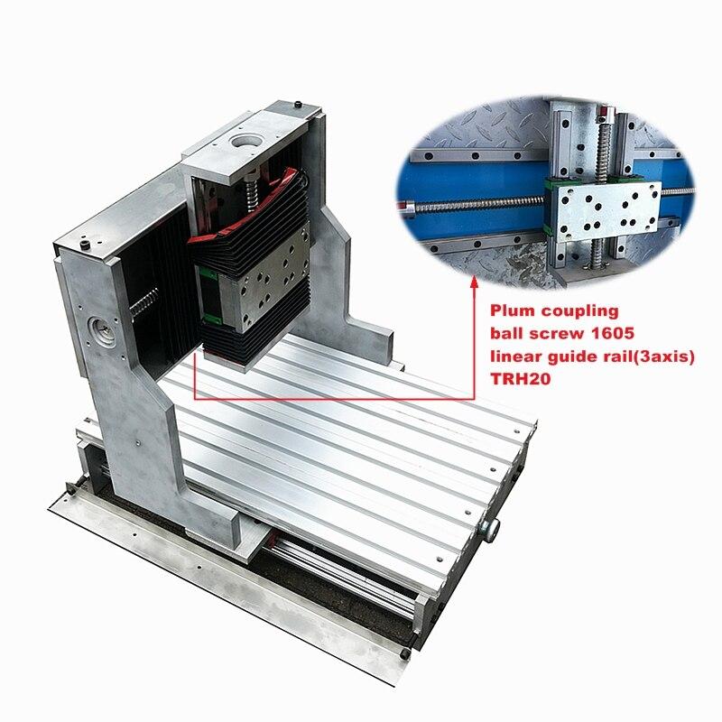 CNC cadre 3040 guidage linéaire bricolage gravure forage fraiseuse ligne carrée rail piste pour 1500W 2200W broche